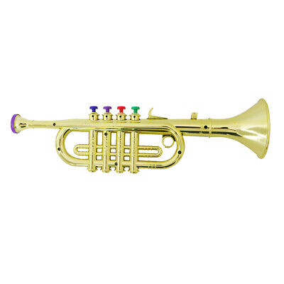 Plastic Trumpet With Colored Key Musical Instrument Ideal Toy For Kids Party • 9.34£