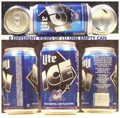 $2.95 • Buy Lite Ice Beer 12 Ounce Can Miller Brewing Company Milwaukee Wisconsin 73C