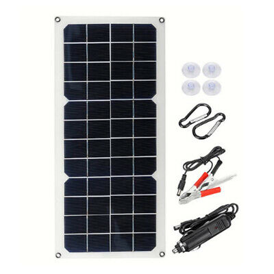 £14.99 • Buy 30w 12V Solar Panel Power Trickle Car Boat Automobile Battery Charger Portable