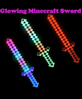 AU15.90 • Buy Glow In Dark Minecraft Sword