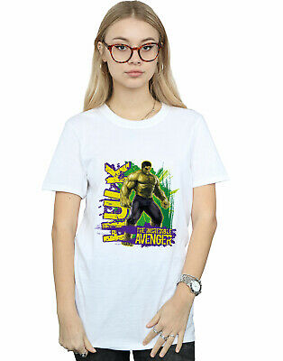 Marvel Women's Avengers Hulk Incredible Avenger Boyfriend Fit T-Shirt • 16.99£