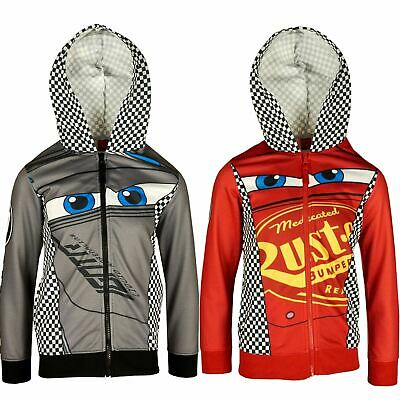 Boys ER1174 Disney Cars Full Zip Hooded Sweatshirt Size: 3-8 Years • 12.99£