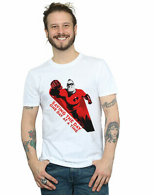 Disney Men's The Incredibles Saving The Day T-Shirt • 16.99£