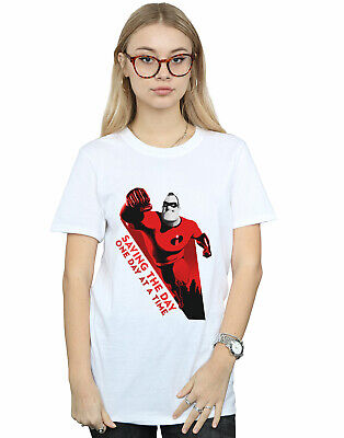 Disney Women's The Incredibles Saving The Day Boyfriend Fit T-Shirt • 16.99£
