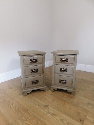 Pair Of Antique Bedside Cabinets • 295£