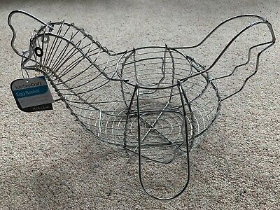 Wire Egg Storage BASKET Chicken Hen Kitchen Holder Rack New • 5.99£