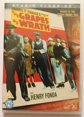GRAPES OF WRATH  - DARRYL ZANUCKS , HENRY FONDA , JOHN FORD 40s CLASSIC FILM DVD • 3.98£