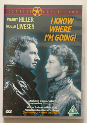 I KNOW WHERE I'M GOING - WENDY HILLER & ROGER LIVESEY 40s CLASSIC FILM DVD • 3.98£