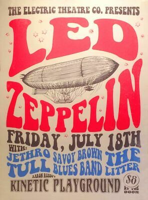 $18.95 • Buy Led Zeppelin 13  X 19  Reproduction Concert Poster Archival Quality 001