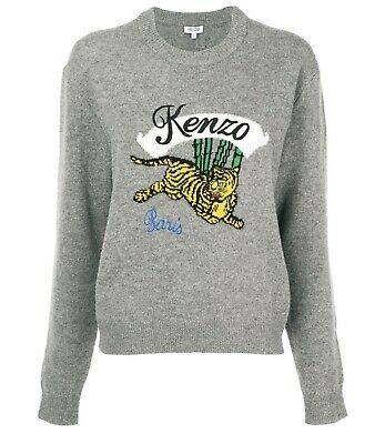 AU200 • Buy KENZO Embroidered Tiger Knit Size L