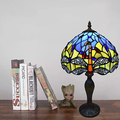 Dragonfly Unique Tiffany Style Handcrafted 10  Bedside/Desk Lamps Stained Glass • 48.58£