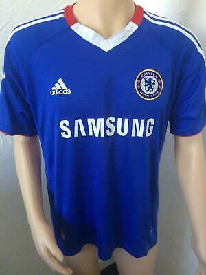 Chelsea Home Football Shirt Mens 2010 2011 Genuine Adidas Home Jersey Size XL • 24.99£