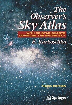 £25.49 • Buy The Observer's Sky Atlas: With 50 Star Charts Covering T... By Karkoschka, Erich