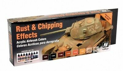 VAL71186 - AV Vallejo Model Air Set - Rust And Chipping Effects • 14.99£