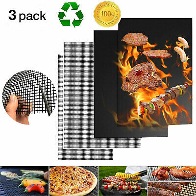 AU11.69 • Buy BBQ Baking Pad Grill Mat Non-stick Mesh Wire Net Barbecue Grilling Sheet Liner