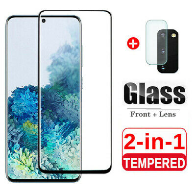 $ CDN5.59 • Buy For Samsung Galaxy S20 S10+ Full Tempered Glass With Camera Lens Protector Cover
