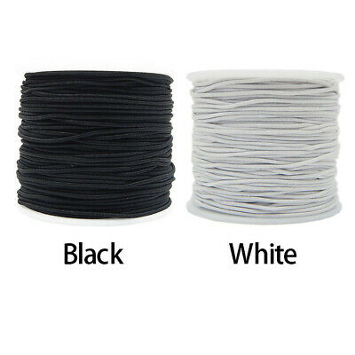 $4.49 • Buy 0.8mm/1mm Elastic Craft Bead Cord-Round Cylindrical Core-spun Sewing Cord Best