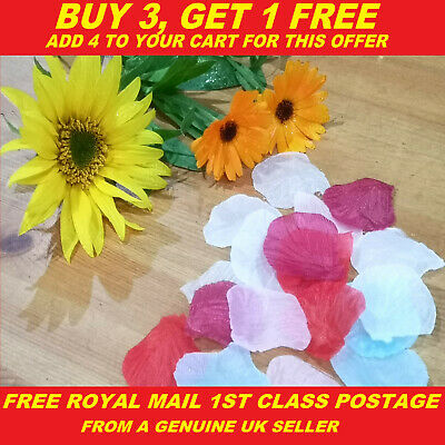 Silk Rose Petals Flower Table Decoration Wedding Confetti Engagement Party • 1.99£