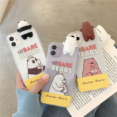 AU9.12 • Buy Cute Cartoon We Bare Bears Case Cover For IPhone 12 11 Pro Max XS XR 7 8 Samsung