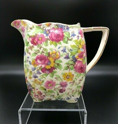 $ CDN27.90 • Buy Vintage Royal Winton Grimwades SUMMERTIME Chintz DUVAL Shape Jug Circa Pre-1943