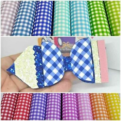 £2.99 • Buy A4 Gingham Check Printed Canvas Fabric School Pencil Hair Bow Plastic Template