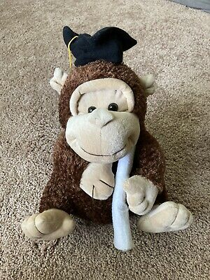 $ CDN5.86 • Buy The Petting Zoo Brown Seal Graduate Monkey 12   Stuffed Animal - Graduation