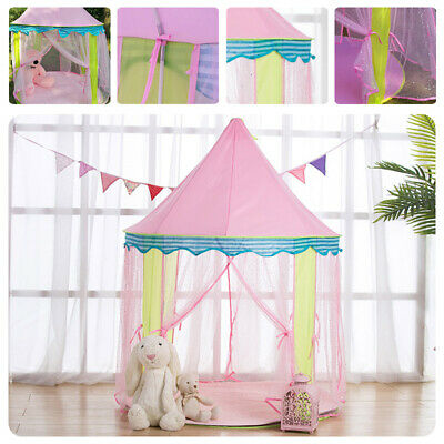 Kids Teepee Pop Up Princess Castle Playing Tent Indoor Outdoor Playhouse • 23.82£