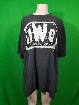 $ CDN56.33 • Buy NWO New World Order Wrestling Shirt Mens 2XL Preowned 1998 Very Used