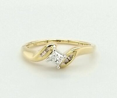 AU399 • Buy REDUCED! 14ct YELLOW & WHITE GOLD DIAMOND RING TDW 20pts VAL @ $1249
