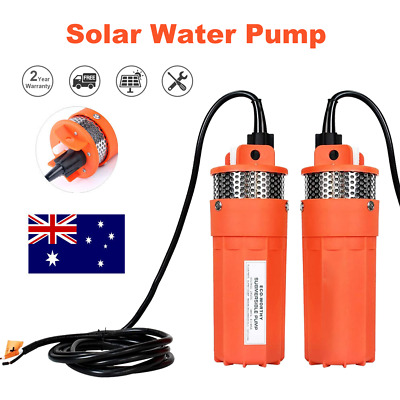 AU105 • Buy 24V 70M Head Submersible Deep Well Solar Bore Water Pump Self-priming W Battery