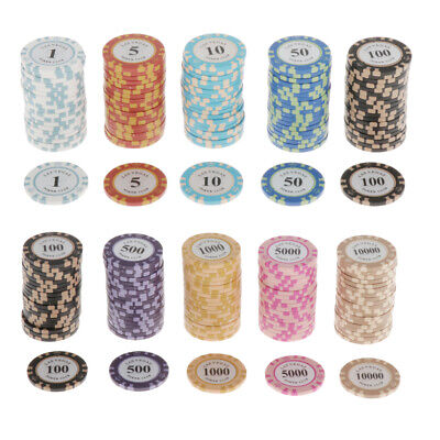 £29.87 • Buy 100 Pieces Chips Striped Poker Chips Set Casino Supply Cards Game Token