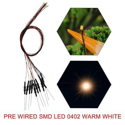 $17.99 • Buy 40pcs Pre-wired SMD LED 0402 Warm White Pre-soldered Micro Litz Leads 0402 LED