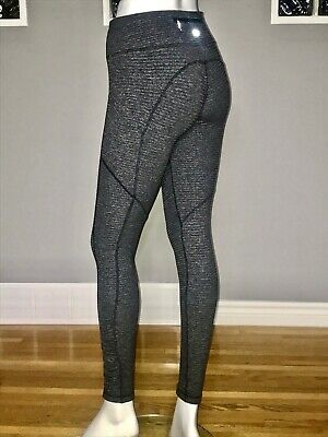 $ CDN78 • Buy Lululemon Speed Tight 6 Mini Check Pique Black Rulu Vguc Speed Tight Iv