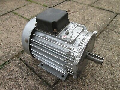 3 Phase Electric Motor, 24mm Shaft Diameter, USED.  • 75£