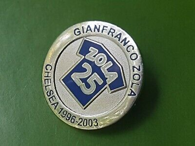 CHELSEA FC Legend 'Gianfranco ZOLA 25' Limited EDITION Pin Badge  • 5.99£