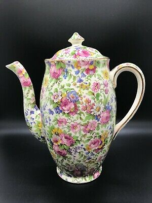 $ CDN265.76 • Buy Vintage Royal Winton Grimwades SUMMERTIME Chintz PERTH Shape Coffee Tea Pot