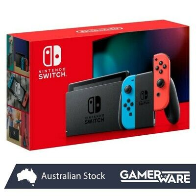 AU479 • Buy Nintendo Switch Console Neon Joy-Con NEW