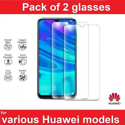 Gorilla Glass Screen Protector For Huawei P20 P30 Pro Lite Y6 Y7 P Smart Fully • 2.45£