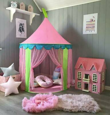 Princess's Pink Play House Girls Fairy Castle Pop Up Tent Teepees Indoor Outdoor • 14.98£