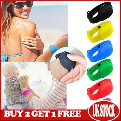 Portable Silicone Bracelet Wristband Hand Band Soap Dispenser Gel Squeeze Bottle • 2.49£