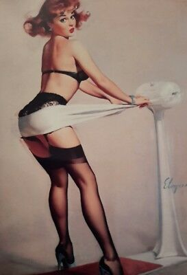 VINTAGE PIN UP GIL ELVGREN EXERCISE 7x5  PICTURE PRINT WALL ART • 2.20£