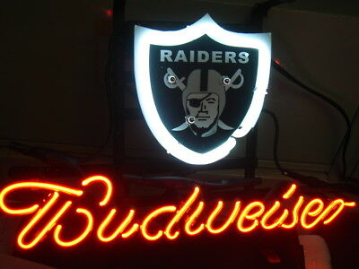 $ CDN97.61 • Buy Oakland Raiders NFL Football Budweiser Neon Sign Bed Room Home Decor Beer Light