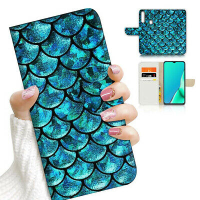 AU12.99 • Buy ( For Vivo Y12 / Y15 / Y17 ) Wallet Case Cover PB23579 Mermaid Scale Blue