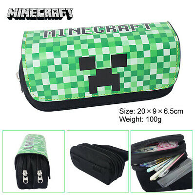 AU27.50 • Buy Minecraft Pencil Pen Cases With  2 Compartments And Minecraft Character Design