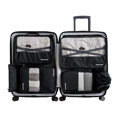 AU13.99 • Buy 7Pcs Packing Cubes Cube Travel Pouches Luggage Organiser Suitcase Storage Bags