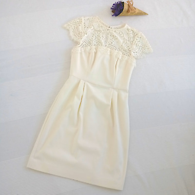 AU34.95 • Buy Forever New Cream Lace Detail Cocktail Mini Dress | Size 6 | Fully Lined
