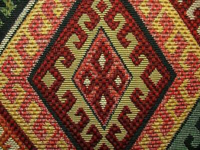 Persian Empire Kilim Extra Thick Tapestry Fabric Curtain Upholstery Cushion Use • 2.99£