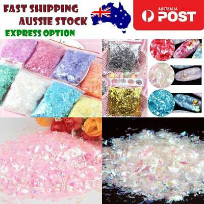 AU7.33 • Buy Nail Glitter Holographic Decoration Flakes Glitter DIY Nail Art 3D Sequins