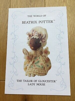 Beatrix Potter Knitting Pattern. Tailor Of Gloucester Lady Mouse - By Alan Dart • 25£
