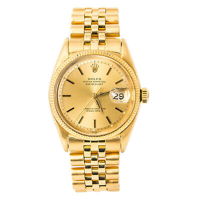 $ CDN13398.81 • Buy Rolex Datejust 6605 Vintage Mens Automatic Watch Champagne Dial 18K Jubilee 36mm